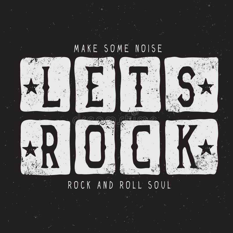 Texto-dejan la roca libre illustration