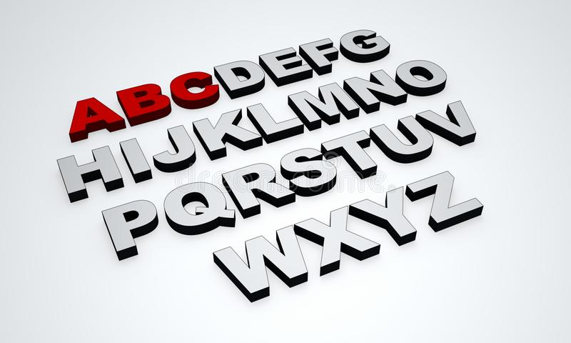 Texto del alfabeto ilustración del vector