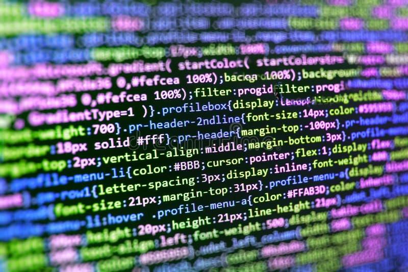 Texto del api del pirata informático en la pantalla de ordenador imagen de archivo