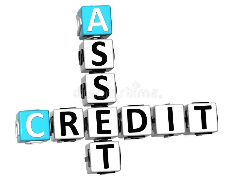 texto del crucigrama del crédito del activo 3D libre illustration