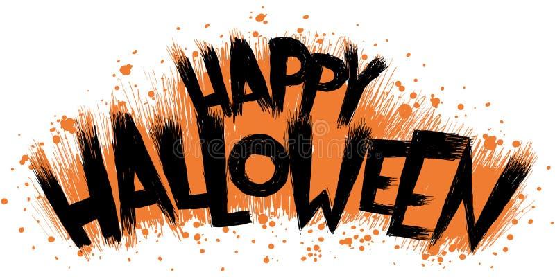 Texto del feliz Halloween ilustración del vector