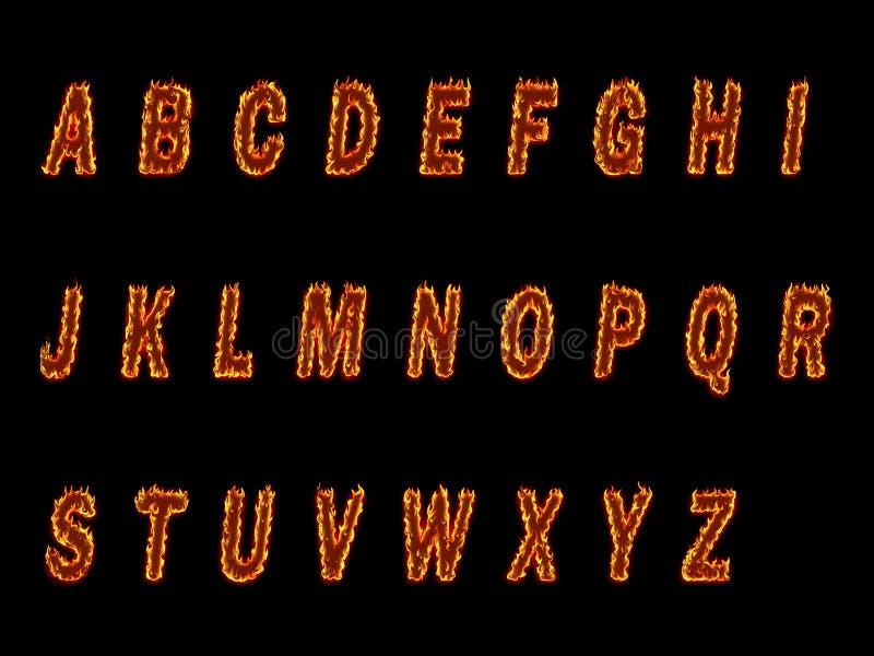 Texto del fuego rojo fotografía de archivo