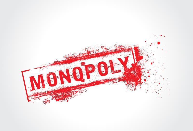 Texto del grunge del monopolio ilustración del vector