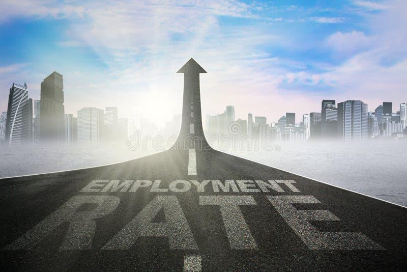 Texto del nivel de empleo en el camino stock de ilustración