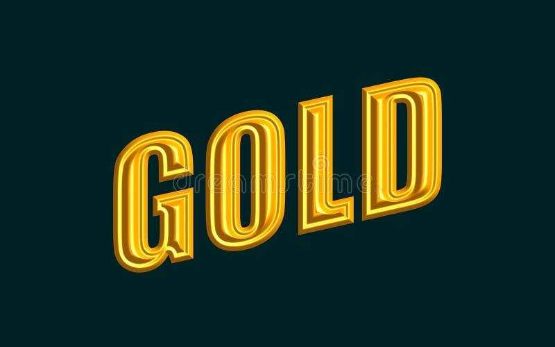 Texto del oro libre illustration
