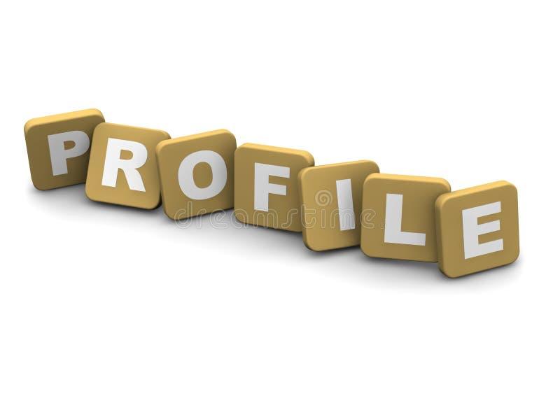 Texto del perfil ilustración del vector