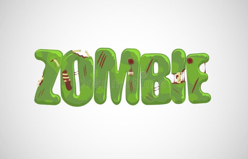 Texto del zombi del vector stock de ilustración