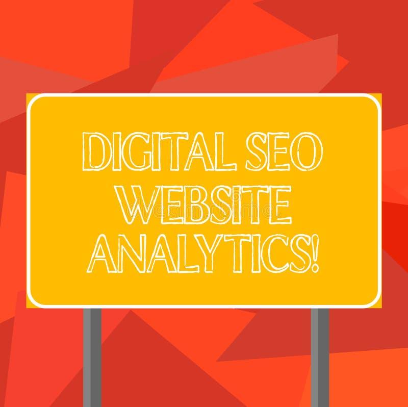 Texto Digital Seo Website Analytics da escrita da palavra E ilustração royalty free