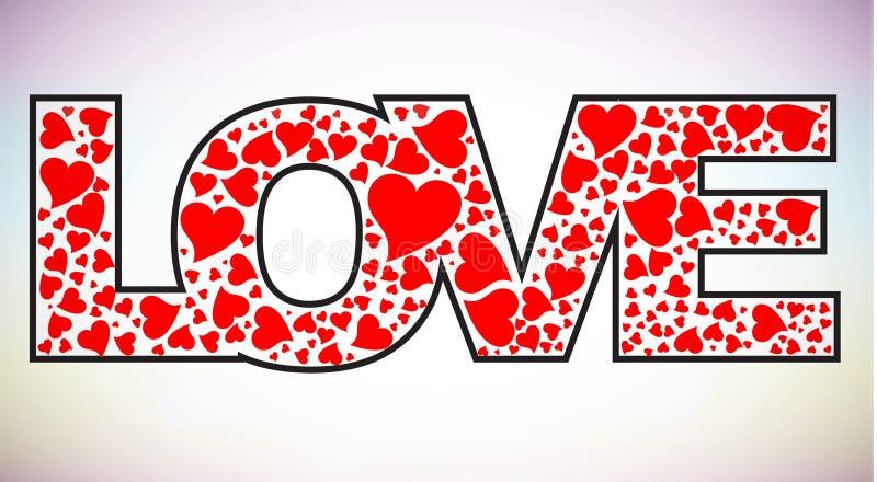 Texto do amor  ilustração royalty free