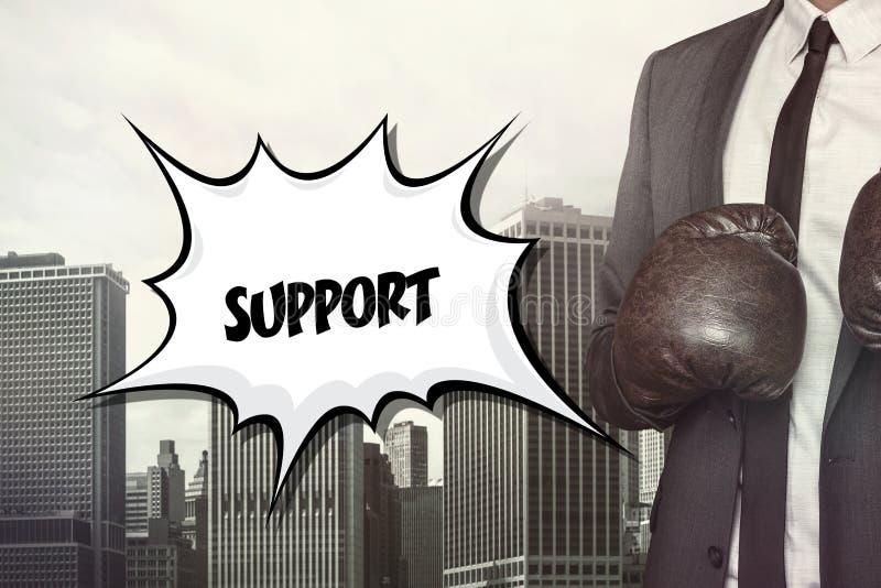Texto do apoio na bolha do discurso ilustração stock