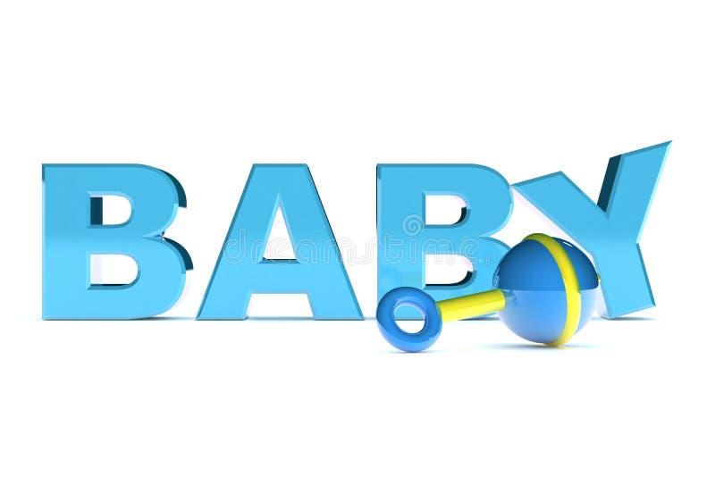 Texto Do Bebé Foto de Stock