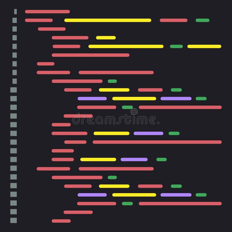 Texto do código de Digitas java Software informático que codifica o conceito do vetor Programando codificando o roteiro java, cód ilustração stock