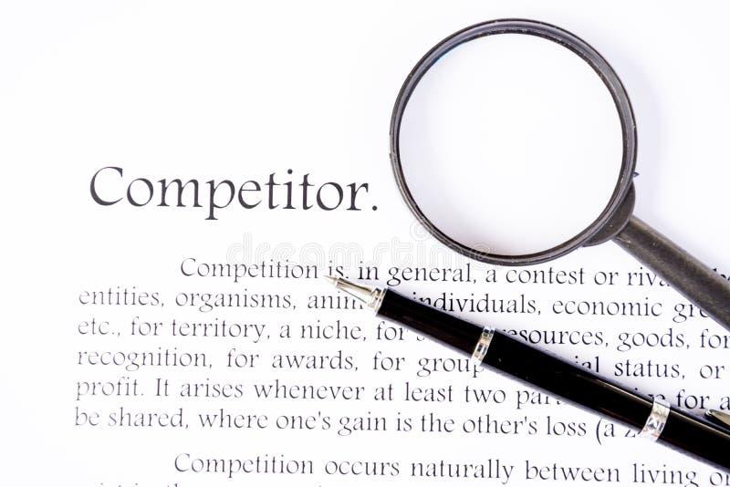 Texto do concorrente no fundo branco foto de stock royalty free