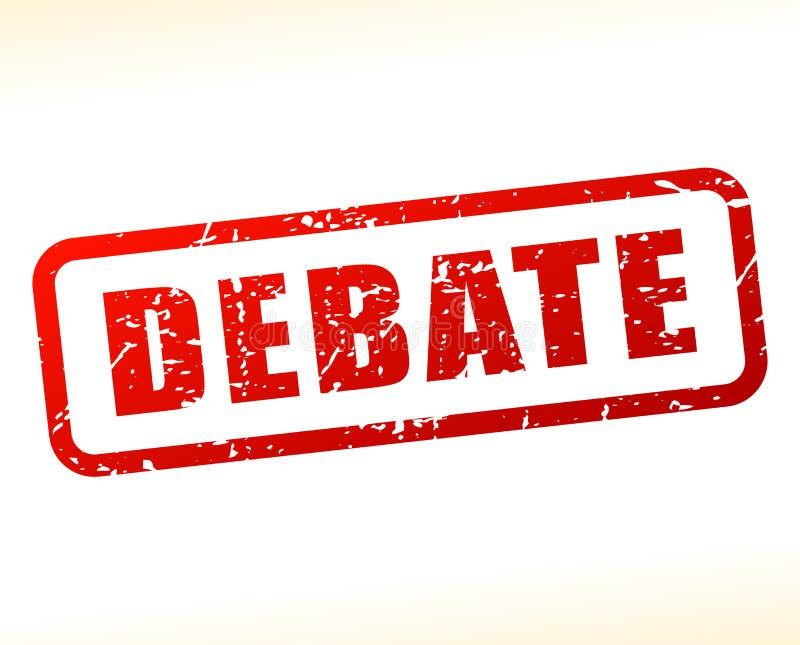 Texto do debate protegido no fundo branco ilustração do vetor