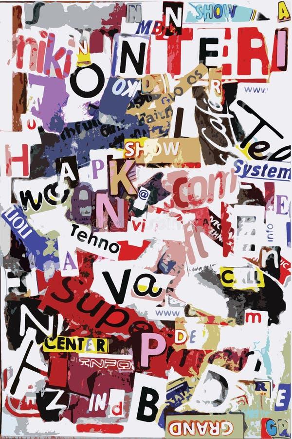 Texto do grunge do vetor ilustração do vetor