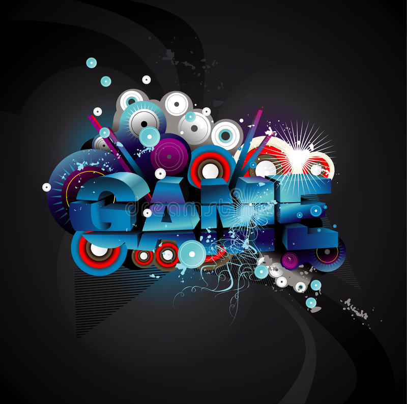 Texto do jogo ilustração stock