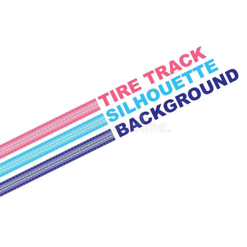 Texto do pneu da cor três ilustração do vetor