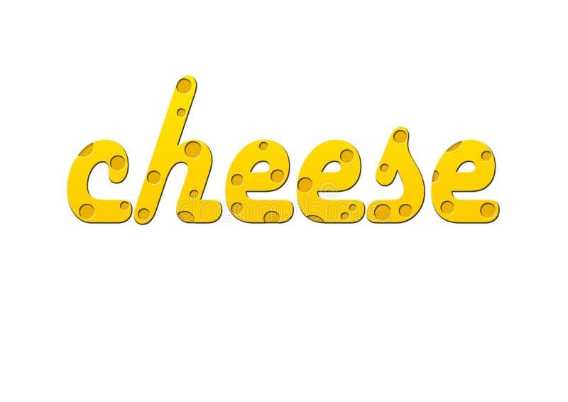 Texto do queijo fotografia de stock royalty free