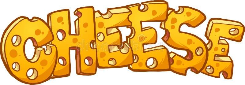 Texto do queijo ilustração royalty free