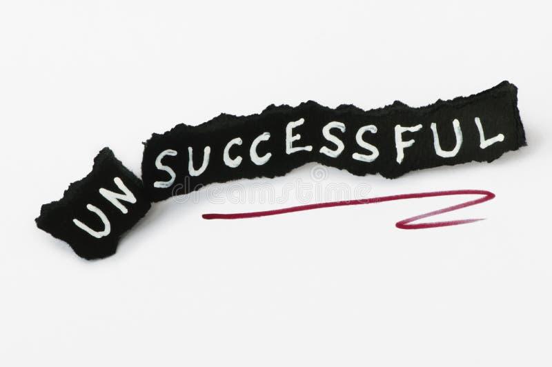 Texto do sucesso sobre o preto foto de stock royalty free
