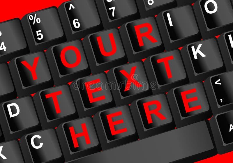 Texto do teclado ilustração do vetor