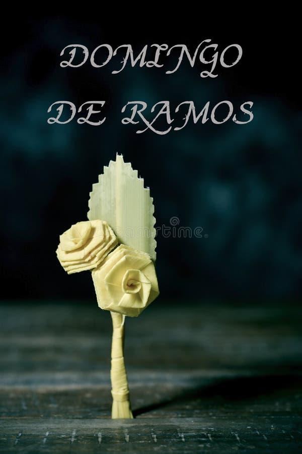 Texto Domingo de Ramos, Ramos Domingo en español imágenes de archivo libres de regalías
