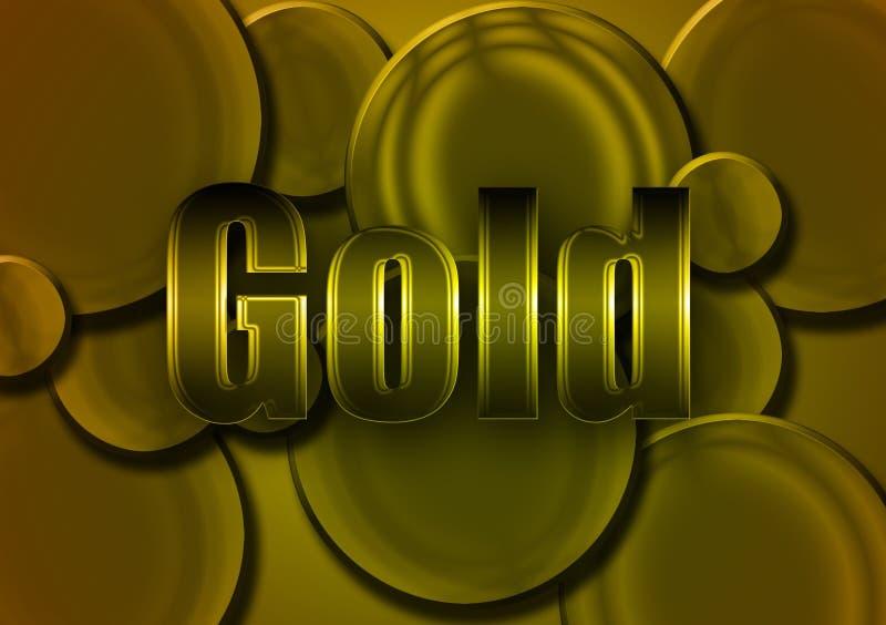 Texto dorado con diseño circular en forma de fondo imagen de archivo libre de regalías