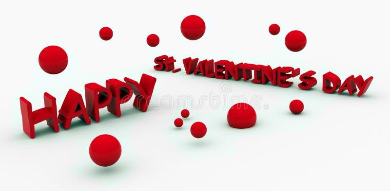 Texto dos Valentim do St. ilustração stock