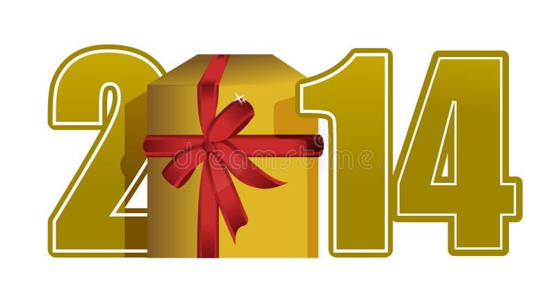 Download Texto E Presente Do Ano Novo 2014 Ilustração Stock - Ilustração de feriado, feliz: 29071780