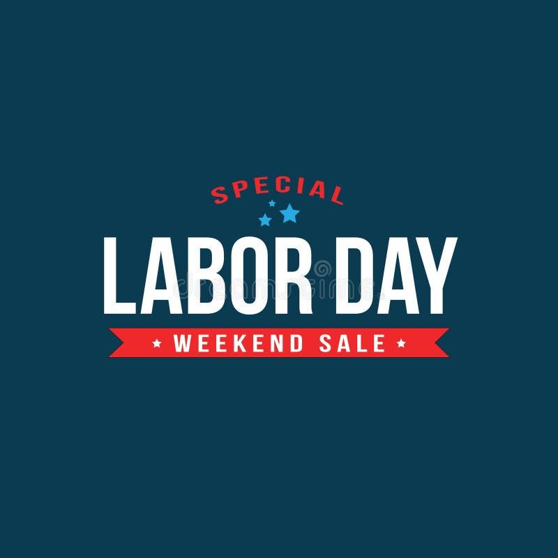 Texto especial de la venta del Día del Trabajo ilustración del vector