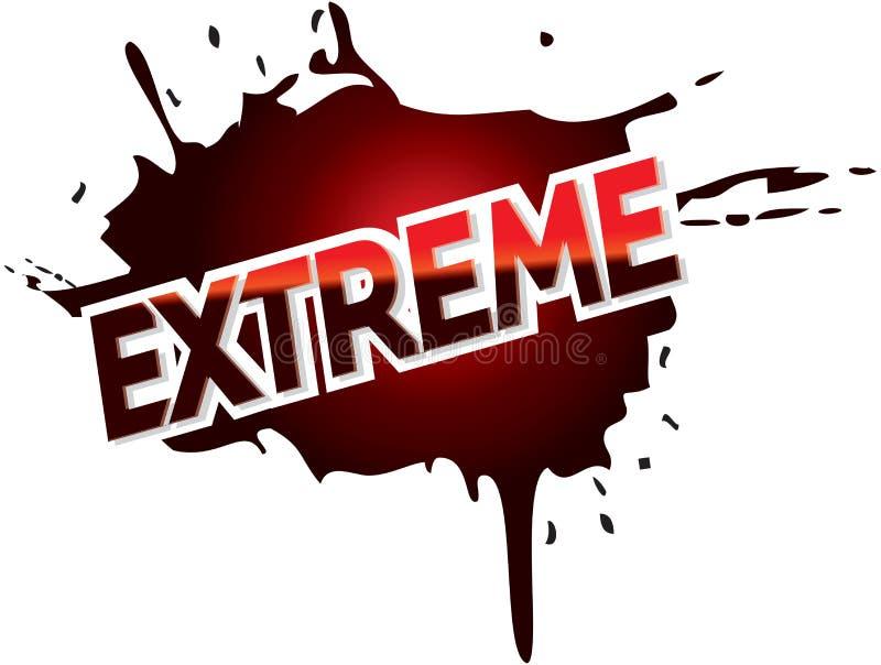Texto extremo do gráfico do logotipo da lama da aventura ilustração do vetor