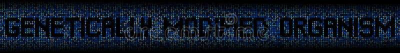 Texto genético modificado del organismo en el ejemplo del fondo del código genético de la DNA libre illustration