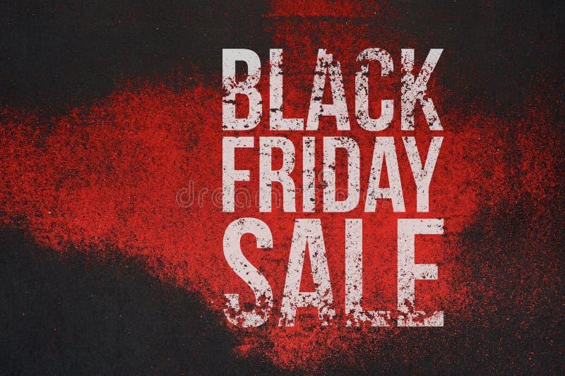 Texto grande del grunge de la venta de Black Friday en bandera ilustración del vector