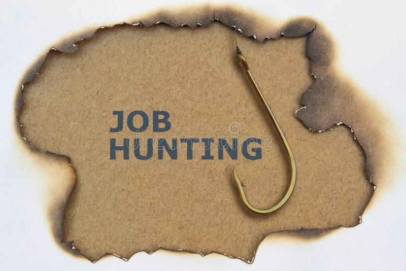 Texto Job Hunting fotos de archivo