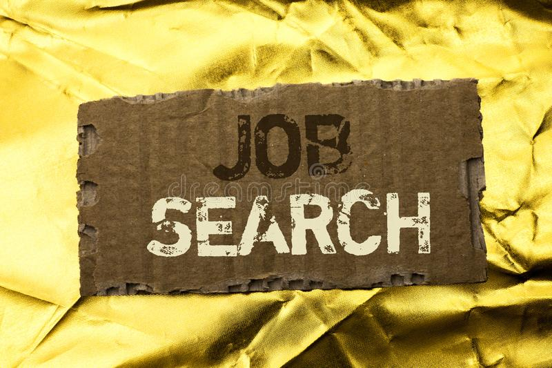 Texto Job Search da escrita da palavra Conceito do negócio para o recruta do recrutamento do emprego da oportunidade da vaga da c imagem de stock royalty free