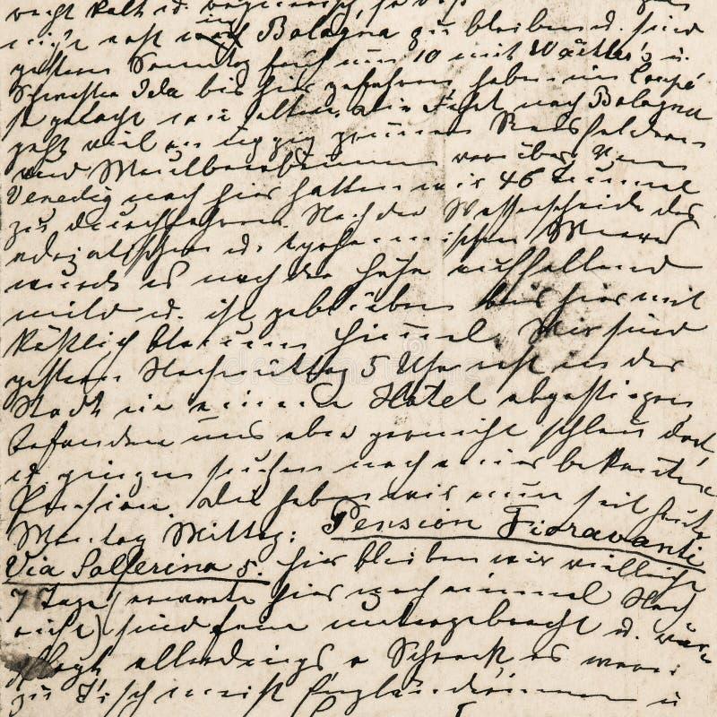 Texto manuscrito Fondo de la textura Papel del libro de recuerdos de Digitaces imágenes de archivo libres de regalías