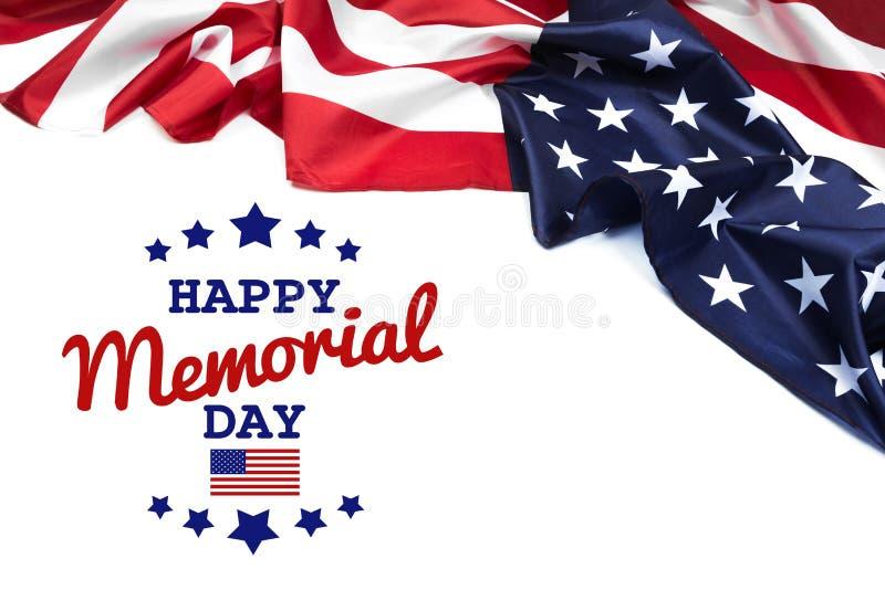 Texto Memorial Day en fondo de la bandera americana fotografía de archivo libre de regalías