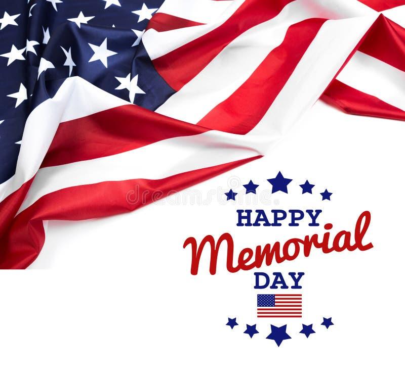 Texto Memorial Day en fondo de la bandera americana fotos de archivo