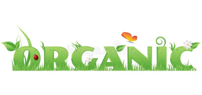 Texto orgánico ilustración del vector