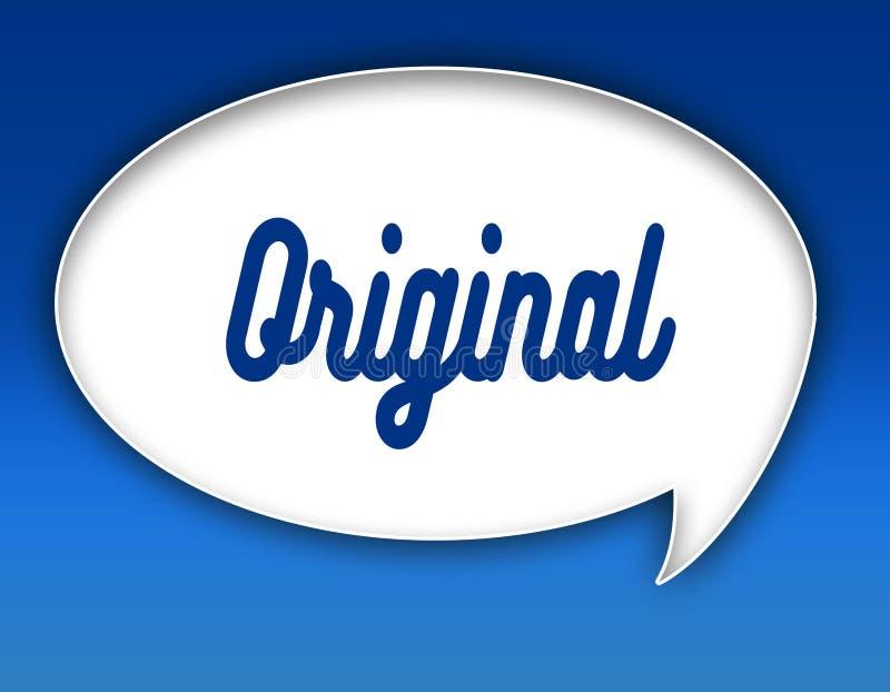 Texto ORIGINAL na ilustração do balão do diálogo Fundo para um cartão do convite ou umas felicitações ilustração royalty free