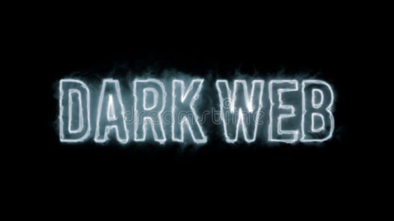 Texto oscuro del web foto de archivo