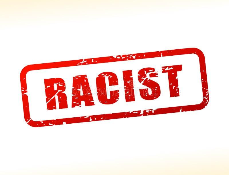 Texto racista protegido stock de ilustración