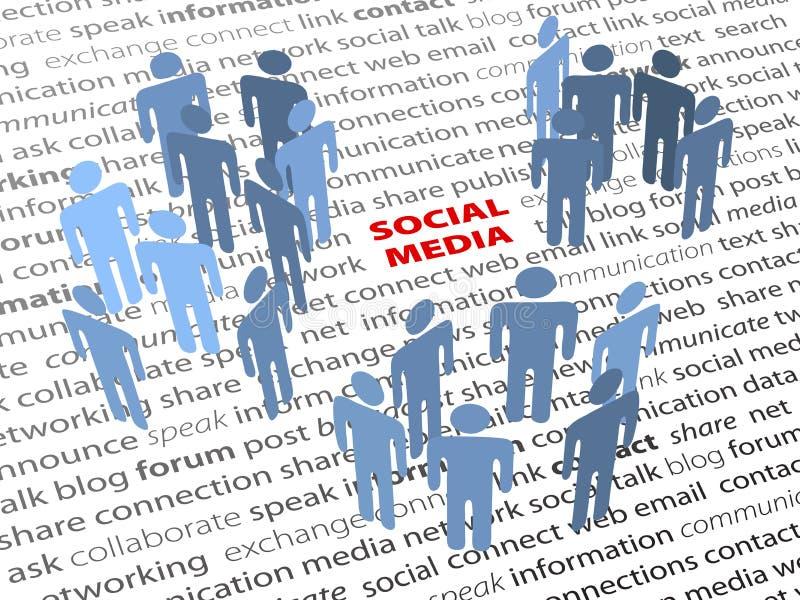 Texto SOCIAL da página da rede dos povos das palavras dos MEDIA ilustração stock