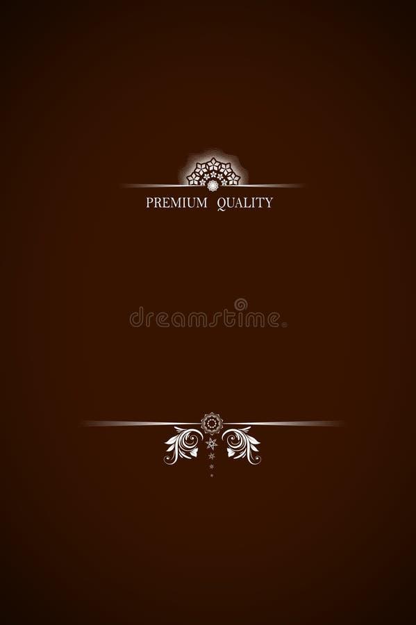 Texto superior da qualidade em Brown escuro fotografia de stock royalty free