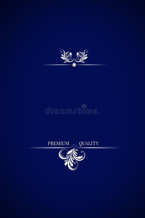 Texto superior na obscuridade - azul da qualidade imagem de stock royalty free