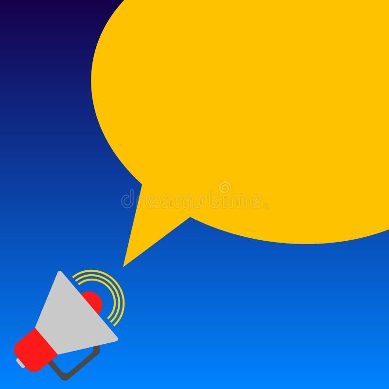 Texto vacío de la copia del concepto del negocio del diseño para el material promocional de las banderas de la web falso encima d ilustración del vector