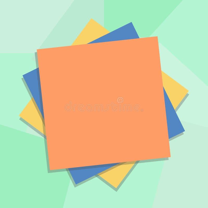 Texto vacío del espacio de la copia del negocio del diseño para la capa múltiple aislada promoción de la plantilla de la bandera  libre illustration
