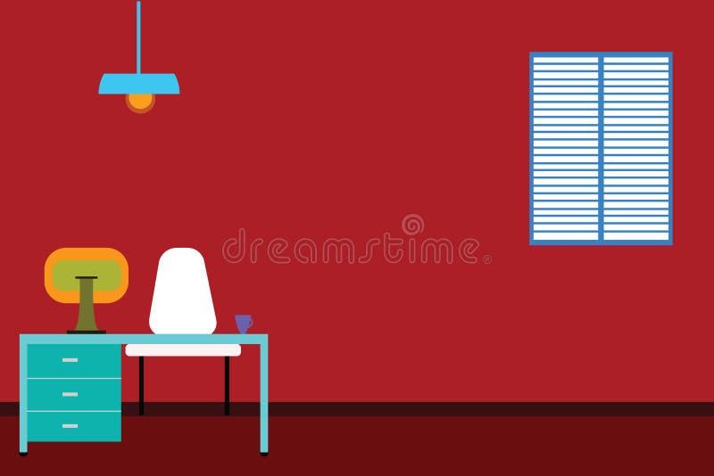 Texto vacío del espacio de la copia de la plantilla del concepto del negocio del diseño para el ordenador interior minimalista ai ilustración del vector
