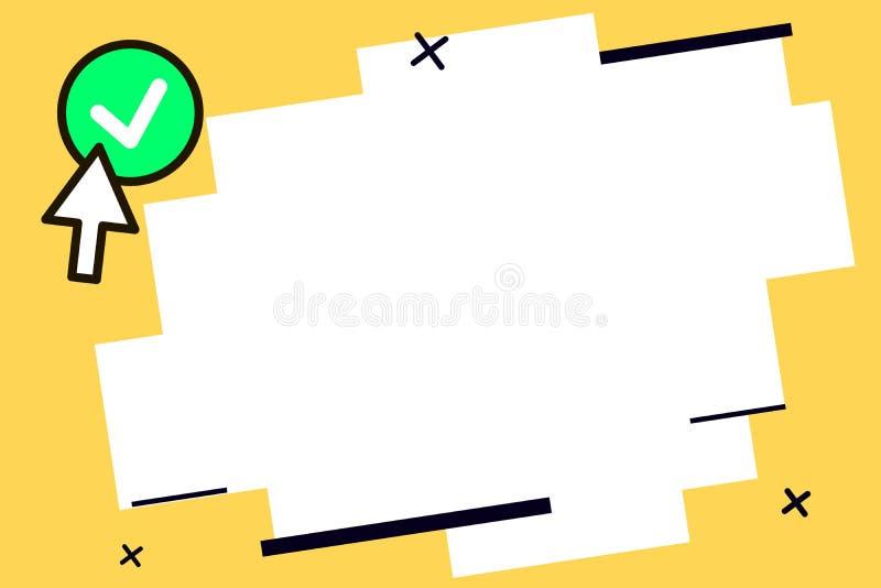 Texto vacío para el anuncio, promoción, cartel, aviador, bandera del web, artículo del espacio de la copia de la plantilla del di stock de ilustración