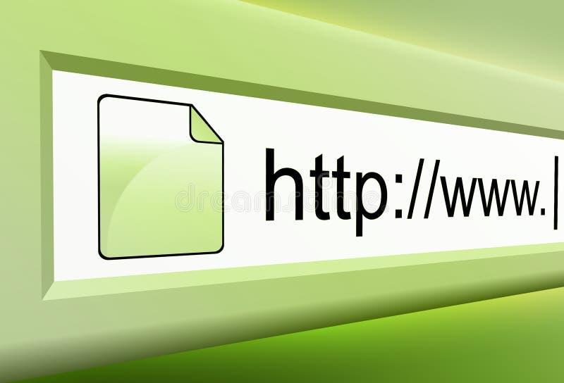 Texto verde del URL del Internet ilustración del vector